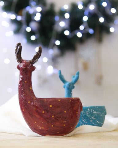 Christmas Deer Bowl - Popovichenko