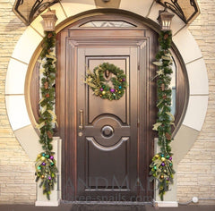Christmas Door Swag Oriental Lights - Vasylchenko1