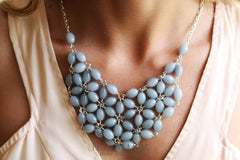 Chunky Necklace Arden Grey - Vasylchenko1