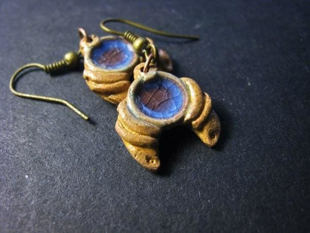 Clay Earrings Charming Moon - Melnichenko1