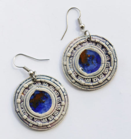 Clay Earrings Solaris - Melnichenko1
