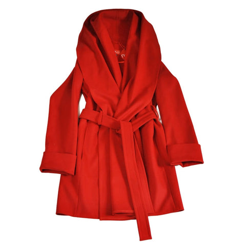 Coat With A Strap Free - Xs / Red / Us - Vasylchenko1