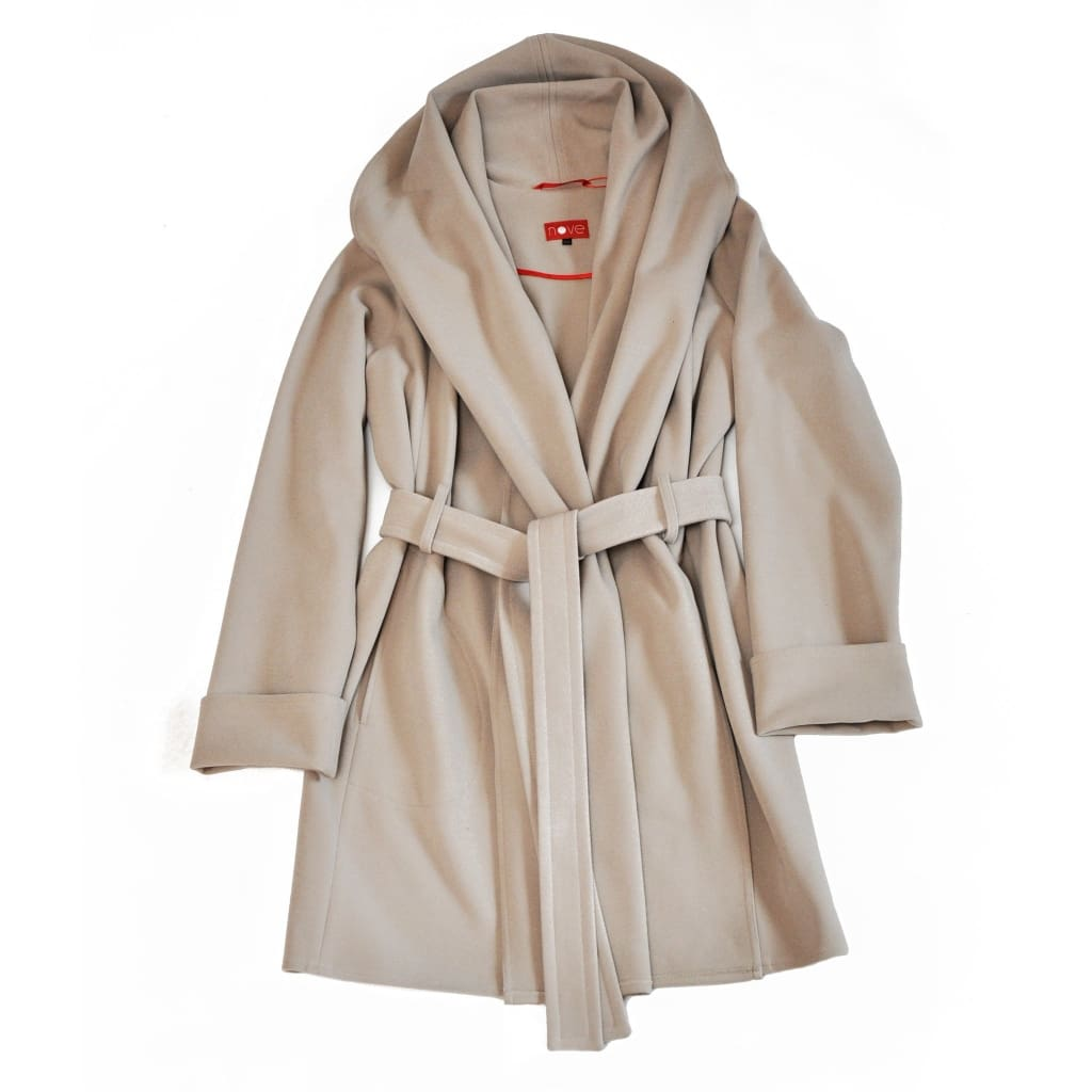 Coat With A Strap Free - Xs / Milk / Us - Vasylchenko1