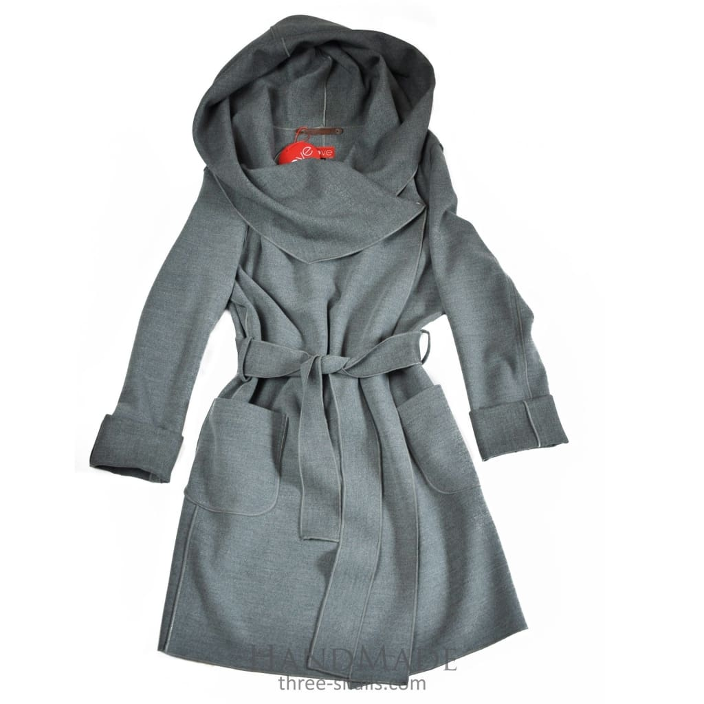 Collared Coat Marina - Xs / Gray / Us - Vasylchenko1