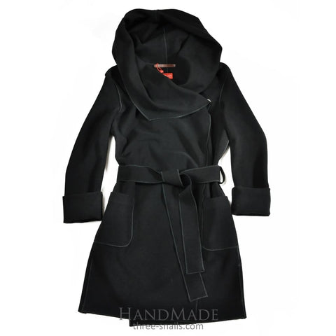 Collared Coat Marina - Xs / Black / Us - Vasylchenko1