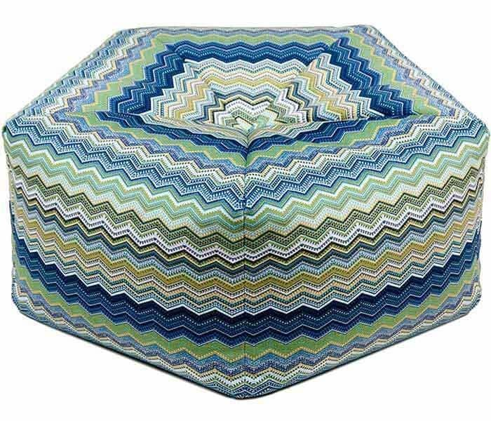 Colorful Pentagonal Pouf - Floor Cushion
