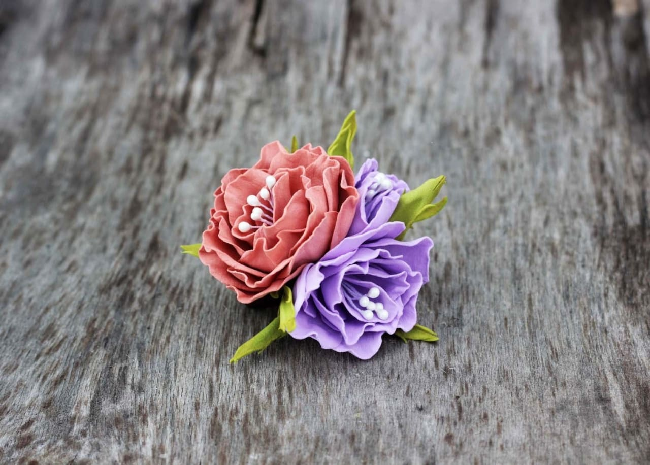 Cool Hair Accessories With Flowers. Barrette «Flower Field» - Vasylchenko1