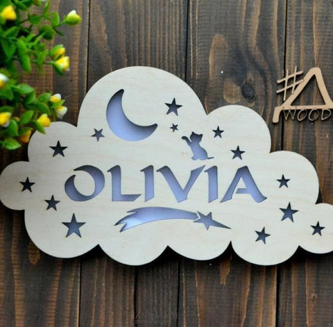Cool Night Lights Cloud With Name - Toy