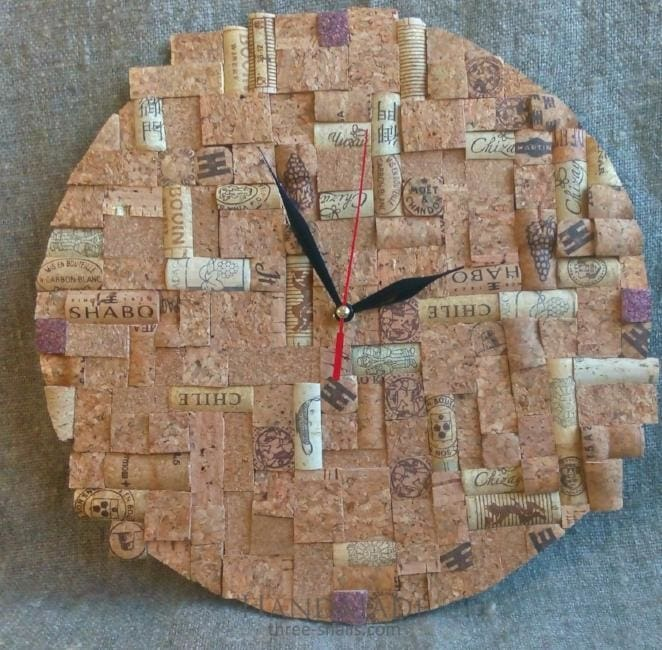 Cork Wall Clock Cork Puzzle - Clock