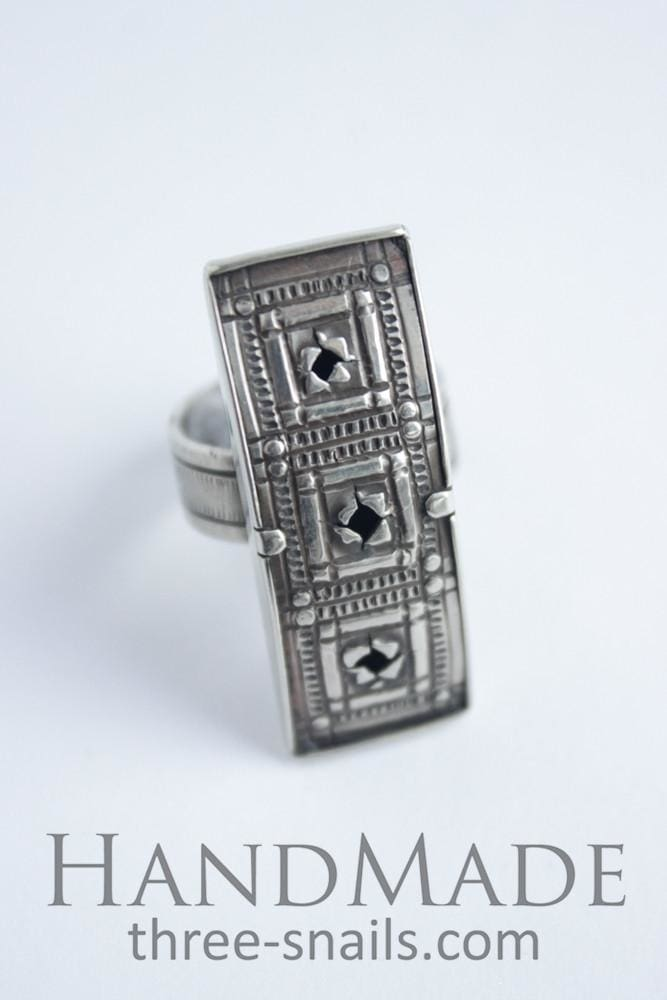 "Costume rings ""Three squares"" - 1"