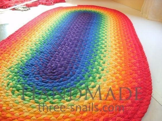 bright oval area rug