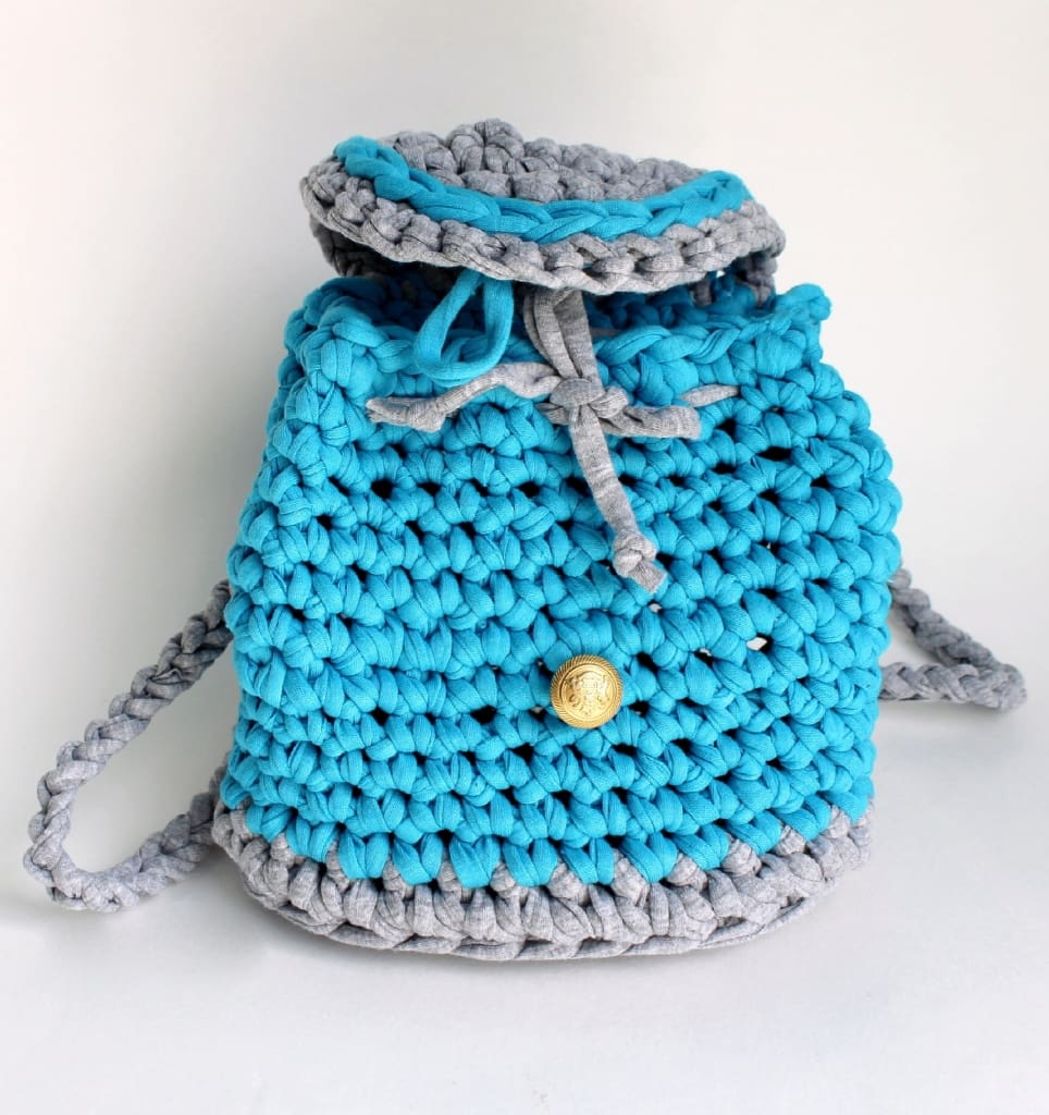 Crochet Backpack Blue Dream - Toy