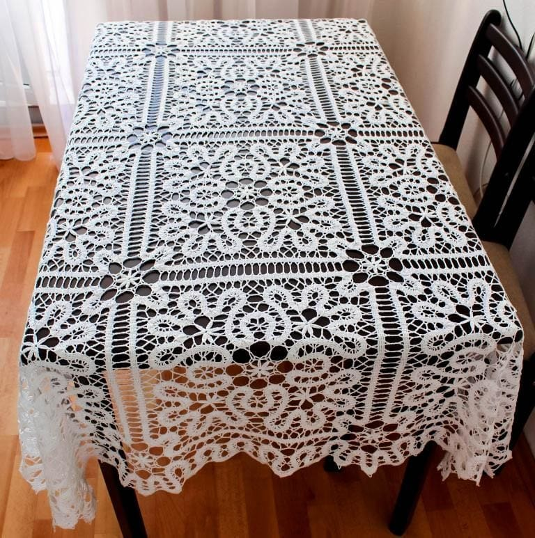 "Crochet Lace Tablecloth ""Fairy"" - 1"