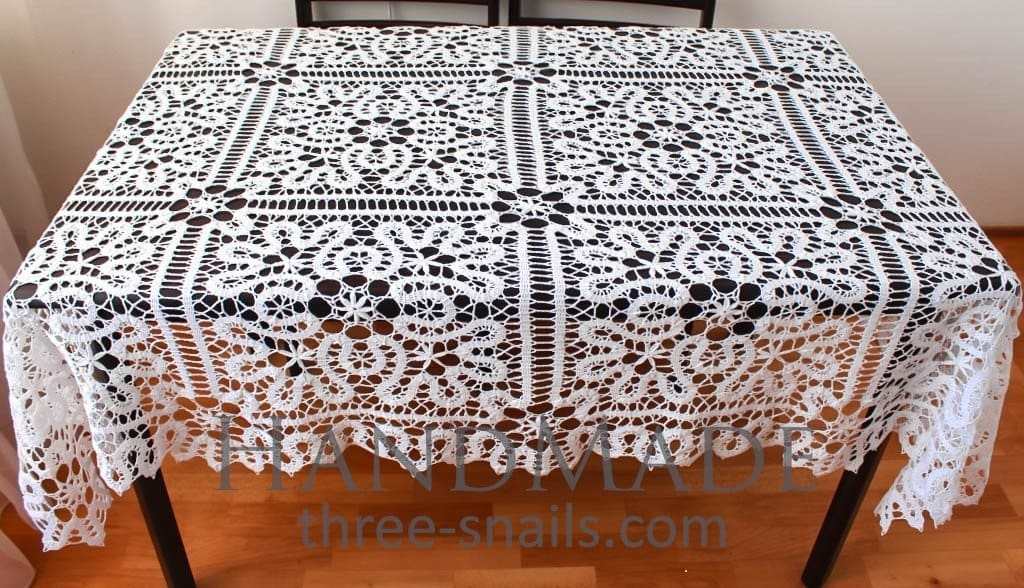 Crochet Lace Tablecloth Fairy - Vasylchenko1