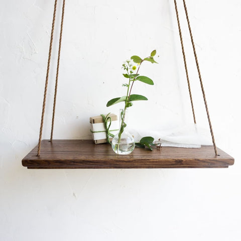 Dark Hanging Swing Shelf Green Silence - Vasylchenko1