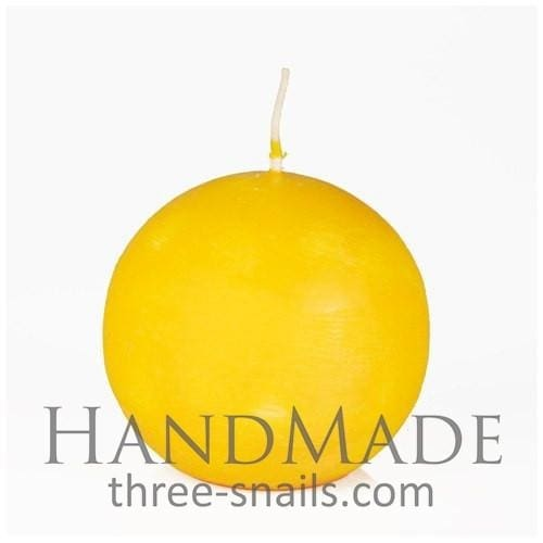 Decorated Candle Ball - Yellow / Us - Candle
