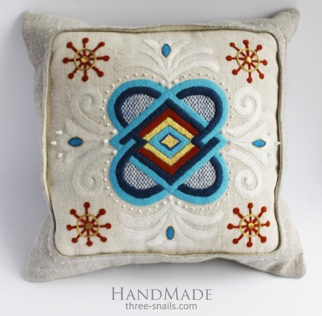 author's embroidery pillow cover