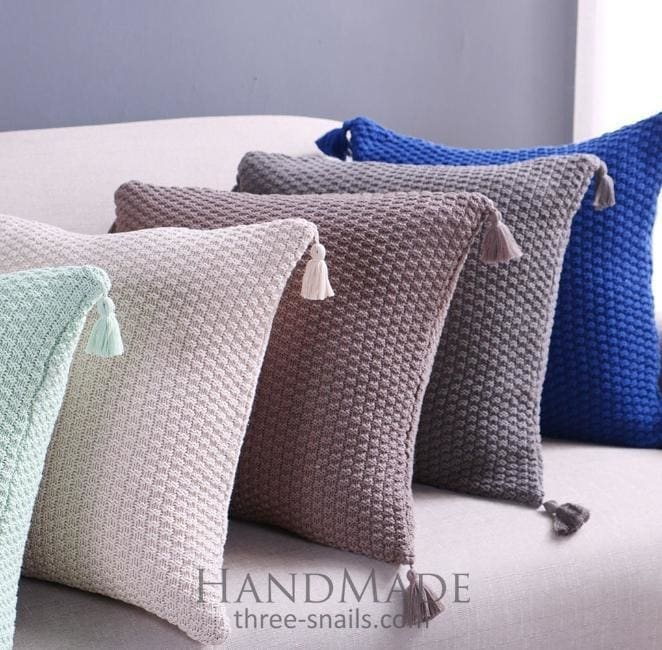 pillow cover with with tassels