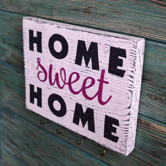 Decorative Wall Hook Home Sweet Home  - Vasylchenko1