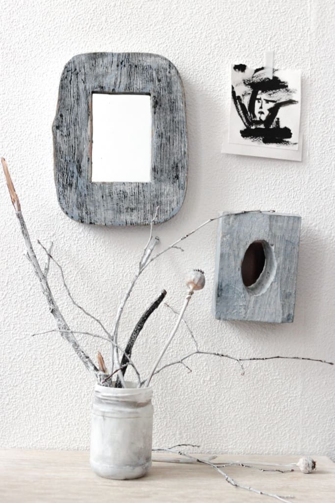 Decorative Wooden Framed Mirror - Mirror