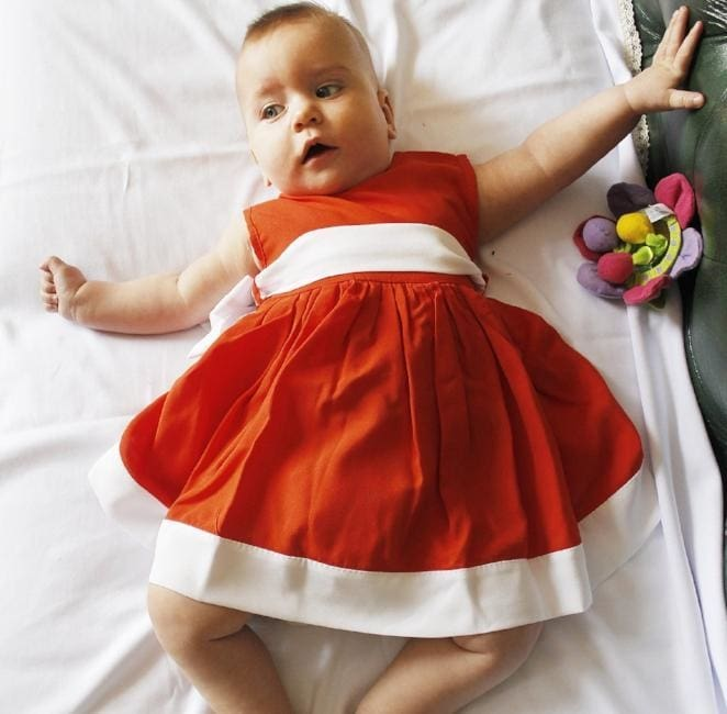 Dress For Girls Corals - Baby Clothes
