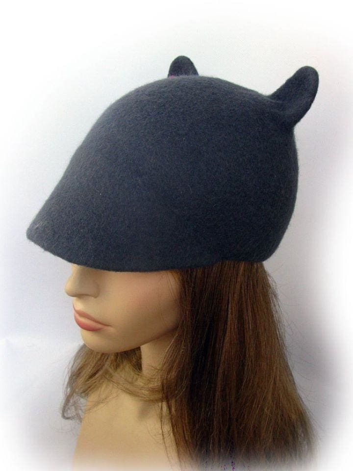 "Duckbill flat cap with ears ""Grey mousy"" - 1"