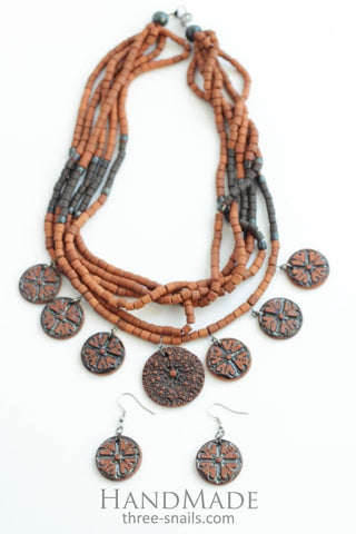 Earrings And Necklace Set Arabica - Melnichenko1