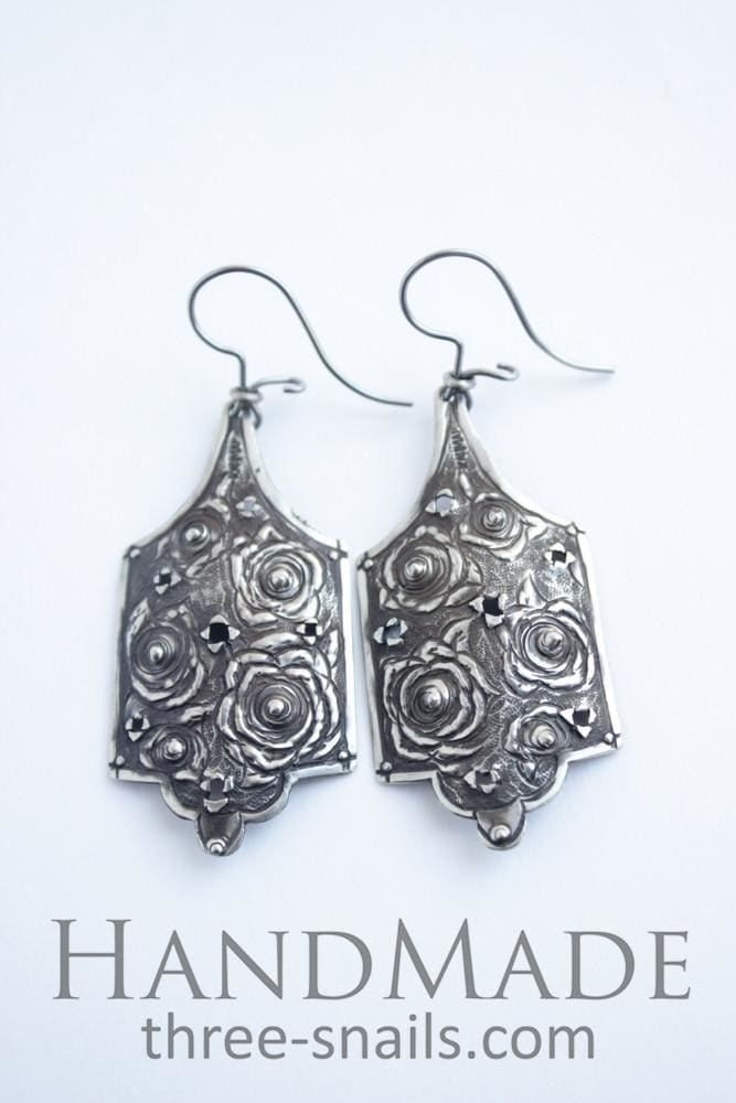 Earrings For Women Bouquets Of Roses - Melnichenko1