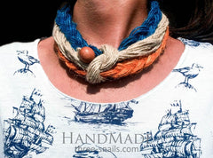 Eco Jute Necklace Sunset - Melnichenko1