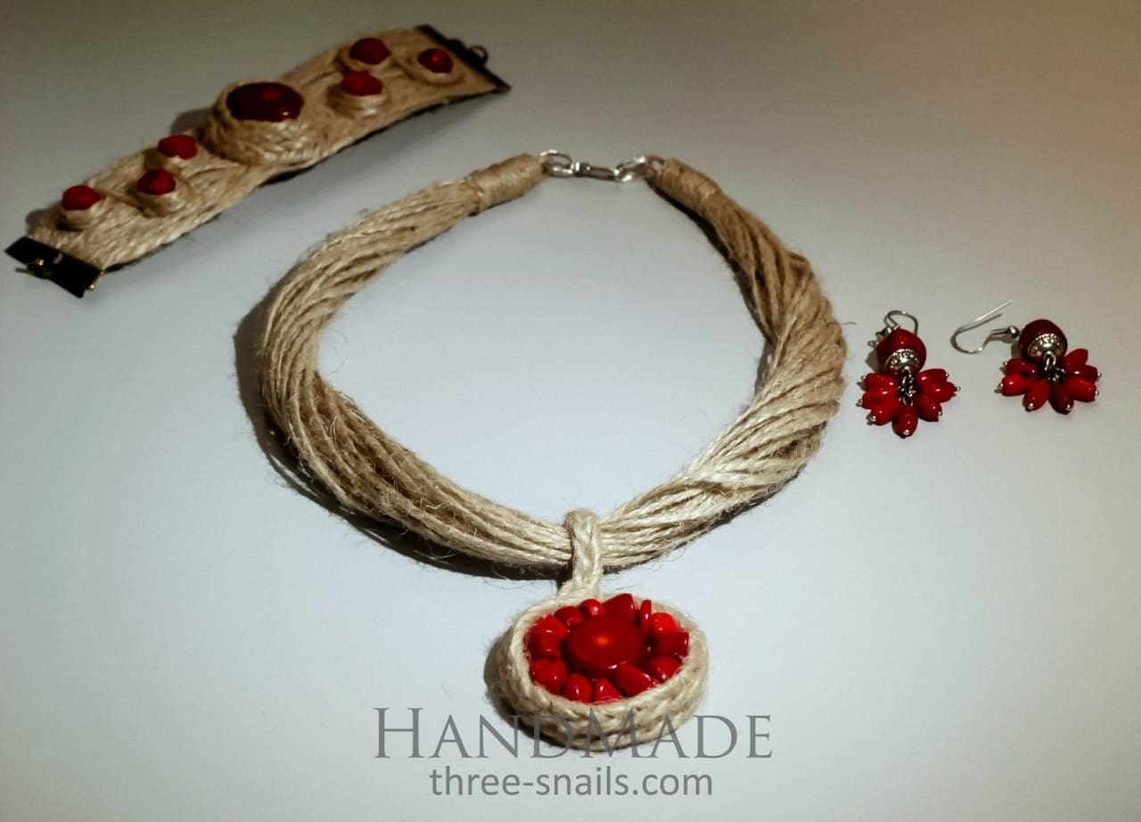 "Eco jute set ""Coral reef"" - 1"
