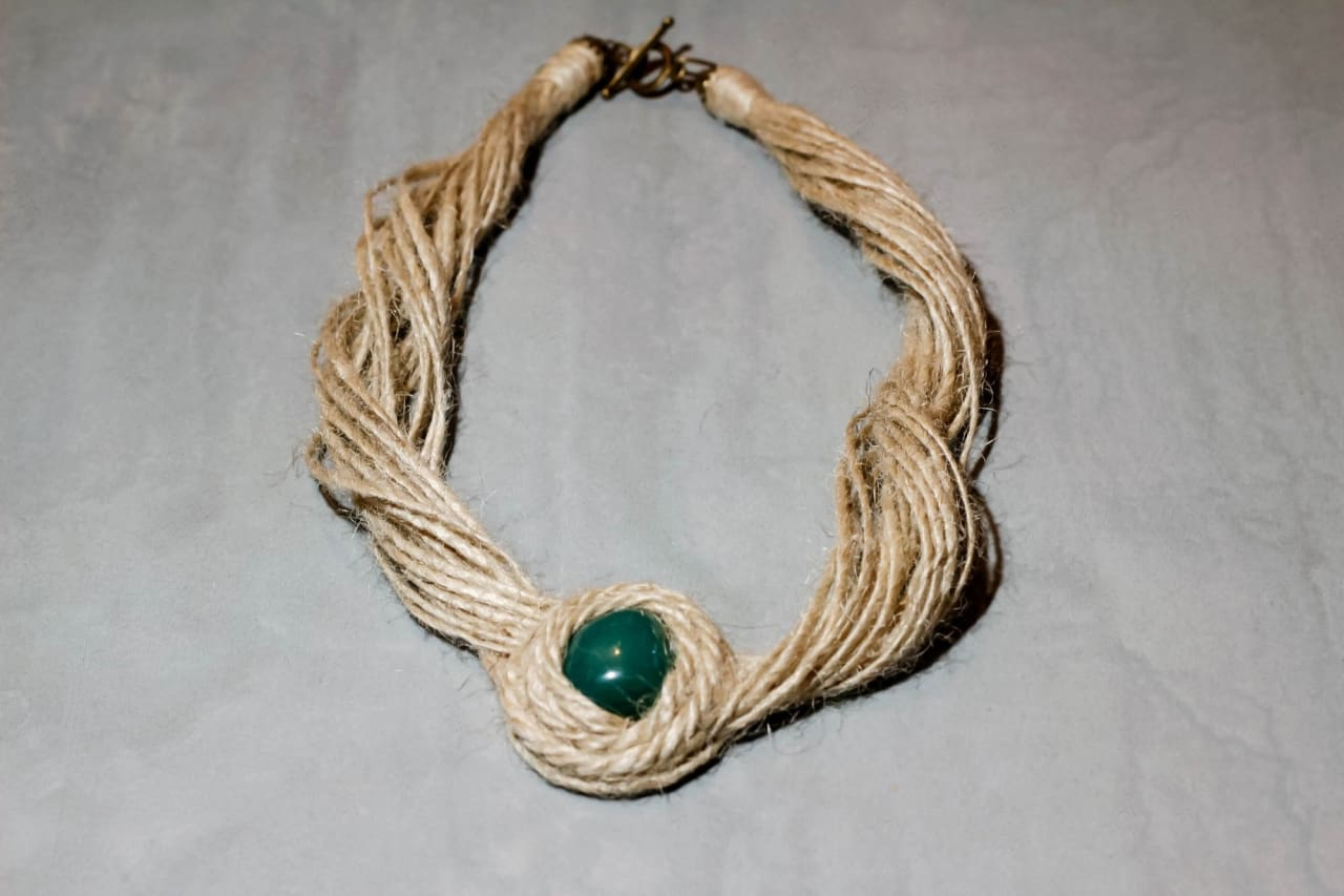 "Eco jute set ""Green agate"" - 1"