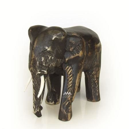 Elephant Artisan Crafted Wood Sculpture - Figurine