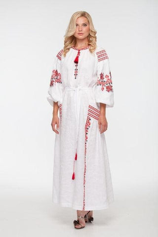Embroidered Dress Blooming Garden - Vasylchenko1