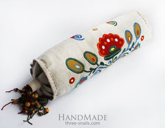 Embroidered Pillow Grape - Pillow