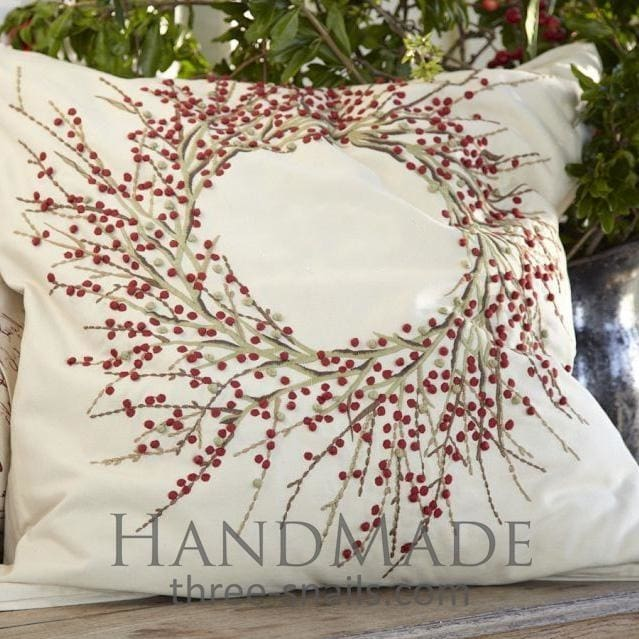 Embroidered Pillowcase - Pillow Cover