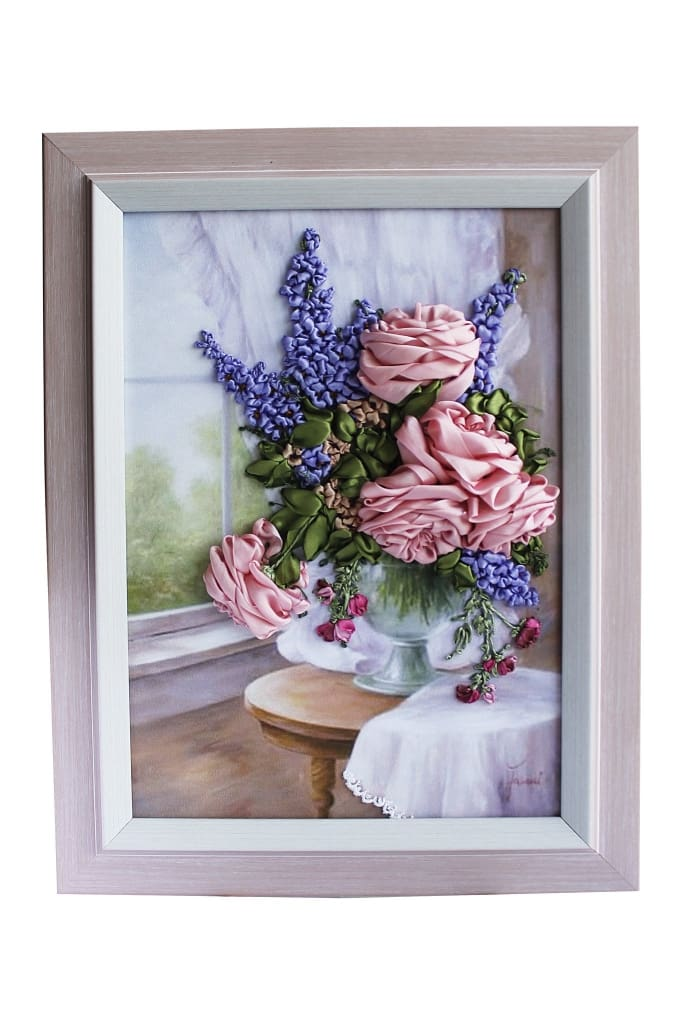 Embroidered Ribbon Picture Morning Bouquet - Melnichenko1