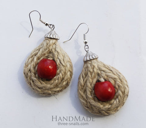 Ethnic Earrings Berry Drop - Melnichenko1