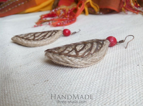Ethnic Earrings Leaves In Wind - Melnichenko1