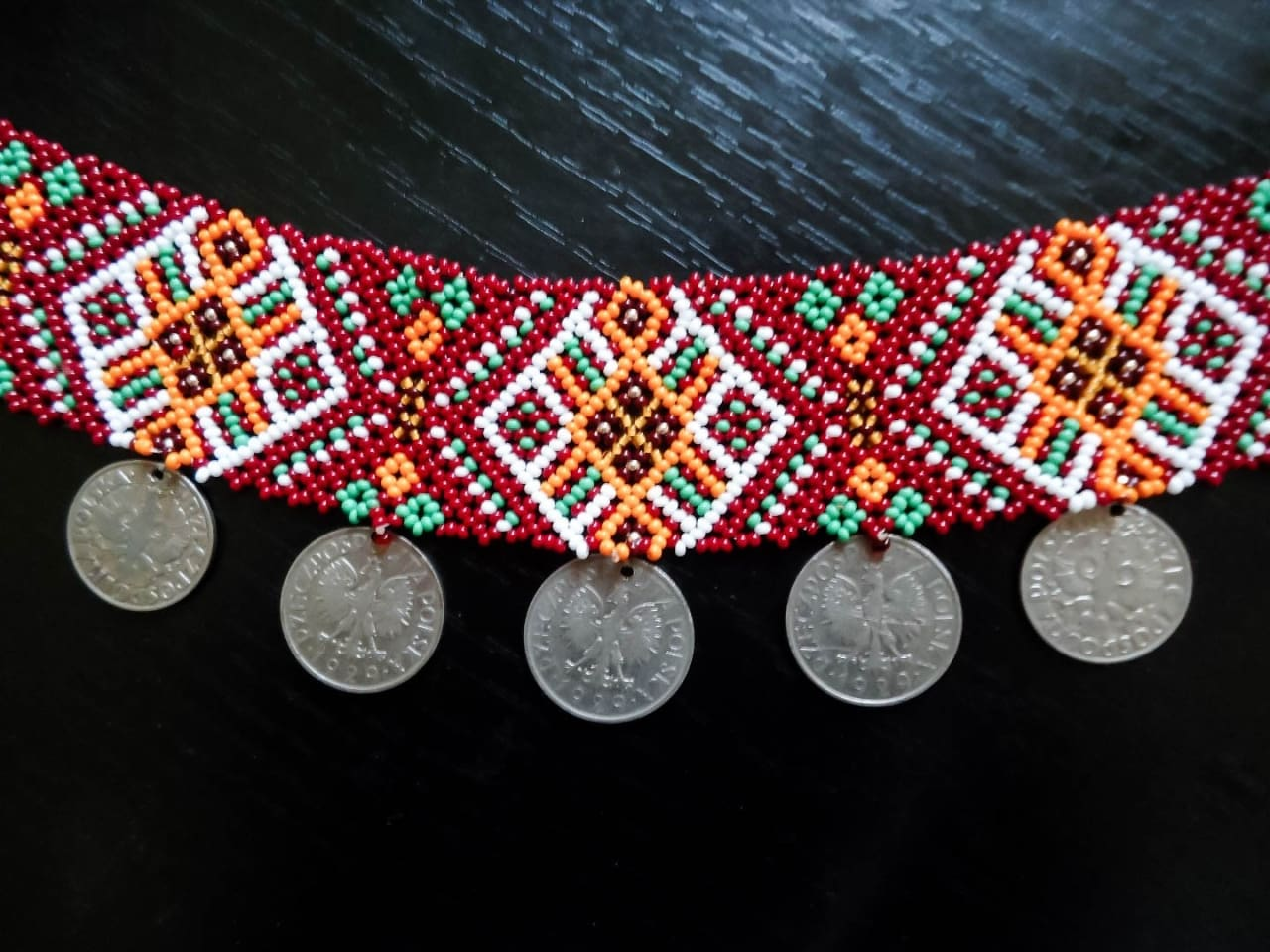 Ethnic jewelry. 'Guzul' sylianka with coins necklace - 1