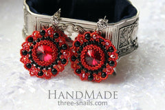 Evening Jewelry. Beaded Earrings «Passion» - Vasylchenko1