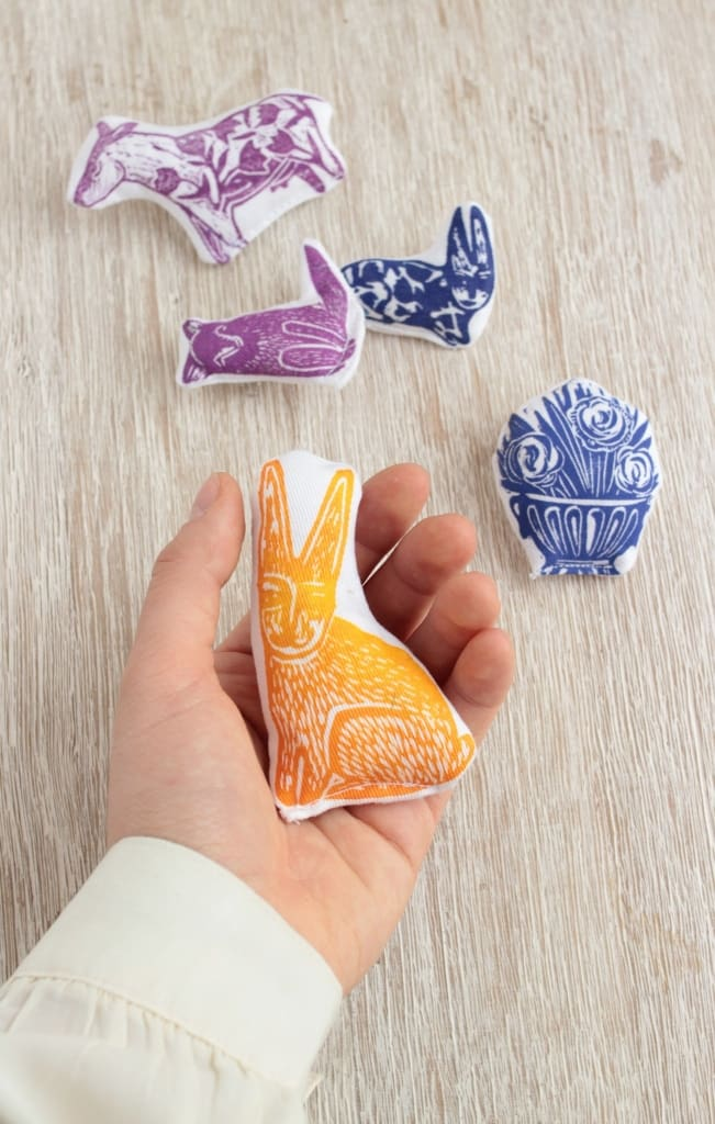 Fabric Brooch Rabbit - Vasylchenko1