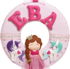 Fabric Letters Princess And Two Unicorns - Toy
