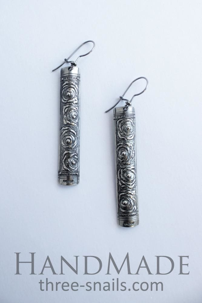 Fashion Earrings Row Of Roses - Melnichenko1