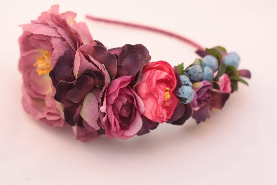 Fashion Headbands. Hair Band «Blueberry Blossom» - Melnichenko1