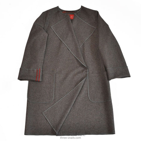 Felted Wool Coat City Charm - Xxs / Dark Gray / Us - Vasylchenko1