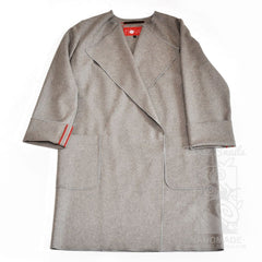 Felted Wool Coat City Charm - Xxs / Gray / Us - Vasylchenko1