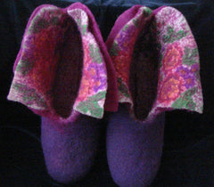 Felted Wool Slippers Blooming Garden - Vasylchenko1