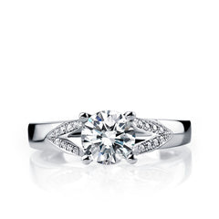 White gold diamond engagement ring - 2