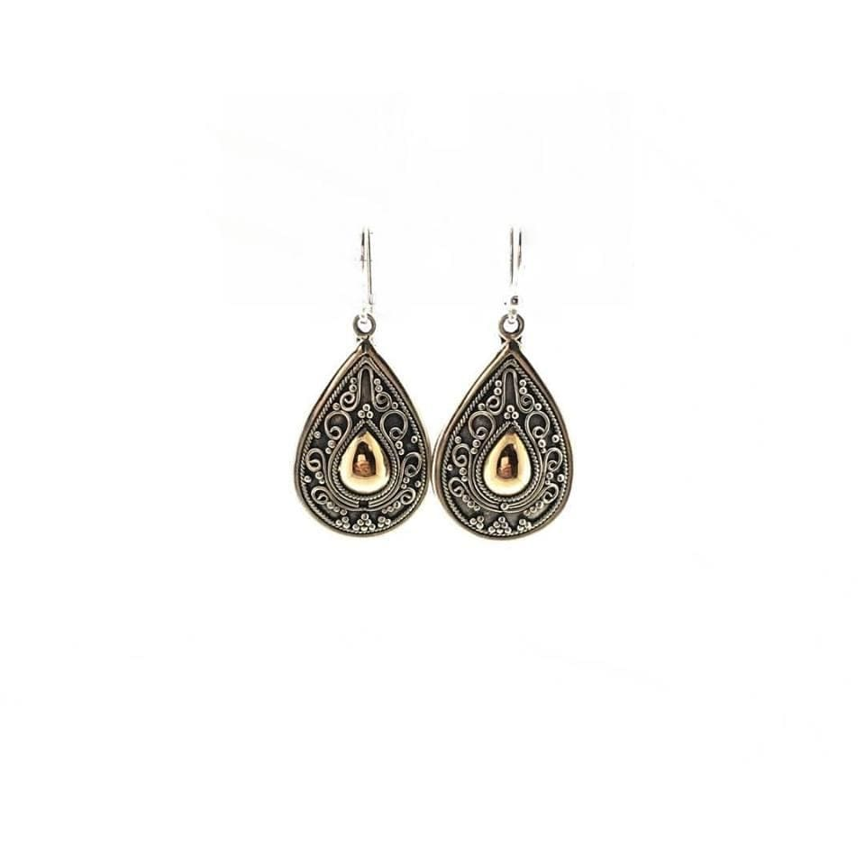 Filigree Teardrop Silver Earrings - Earrings