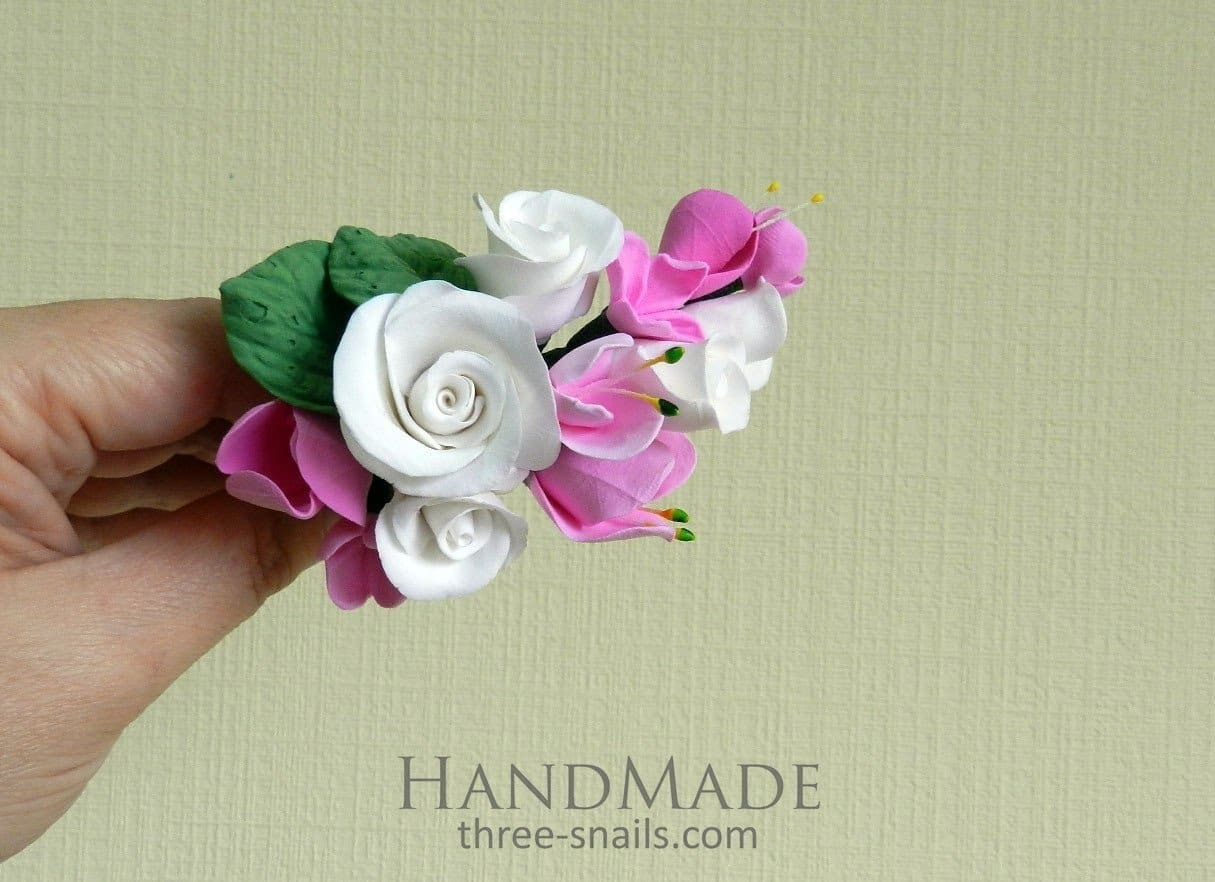 Flower Girl Hair Accessories Rose Branch - Vasylchenko1